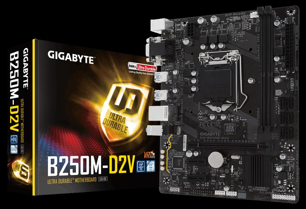 GIGABYTE B360M D2V 1.0