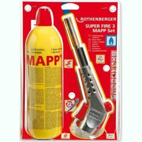 ROTHENBERGER SUPER FIRE 3 pamatkomplekts ar MAPP gāzi  131.00