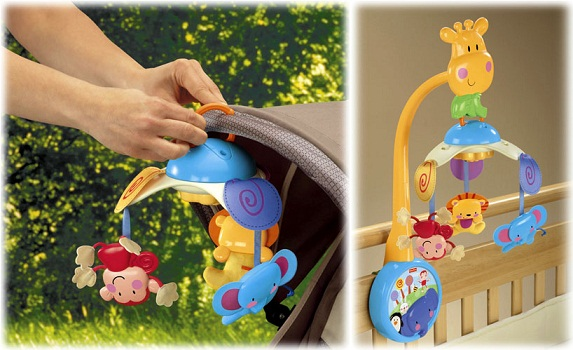 Fisher Price 2 in 1( W9913 ) Musical Mobile  39.00